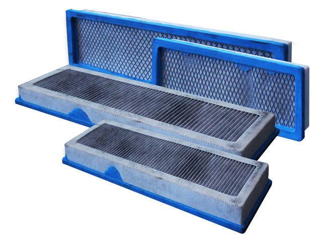 Filtro de Carvão Ativado, para cabinas originais JD.Kit completo com 2 pares de filtros, 2 internos e 2 externos.CÓD. ORIGINAL SJ14288